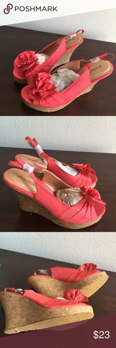 WEDGE OPEN TOE SLINGBACK NEW WEDGES NEVER BEEN WORN Shoes Wedges