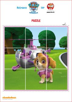 Cut up and reassemble the pieces of this puzzle to make Skye from Paw Patrol! Los Paw Patrol, Paw Patrol Party, Paw Patrol Birthday, Dog Birthday, Cumple Paw Patrol, Diy Birthday Decorations, Puppy Party, Toy Store, Kids Learning