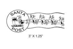 Santas Sleigh and Reindeer Postmark Mail by AsspocketProductions, $12.00