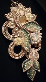 The stars of Eli Textile Jewelry, Boho Jewelry, Beaded Jewelry, Jewelery, Handmade Jewelry, Jewelry Design, Soutache Pendant, Soutache Necklace, Shibori