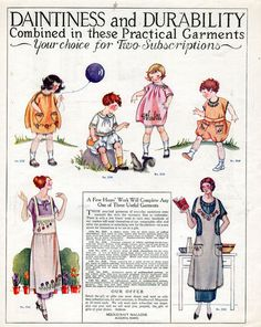 Daintiness and durability combine in these practical garments (1926).
