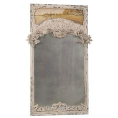 Carved French Trumeau Mirror