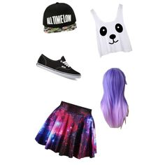 Summer forever by desrhe-van-hoof on Polyvore featuring polyvore, mode, style and Vans