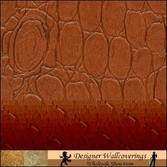 """Crocky Wallcovering - 10 Indian Spice - 54"""" - Type 2  [Croc-1200] Crocodile Embossed  54"""" Walls   DesignerWallcoverings.com ™ - Your One Stop Showroom for Custom, Natural, & Specialty Wallcoverings   Largest Selection of Wall Papers   World Wide Showroom   Wallpaper Printers"""