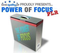 You can help people reach their goals and achieve their dreams by teaching them the Power Of Focus