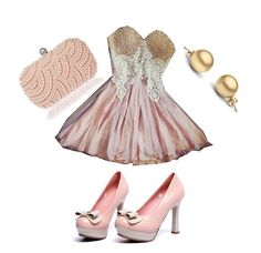 """""""Pink & Gold"""" by magdamarcella on Polyvore"""