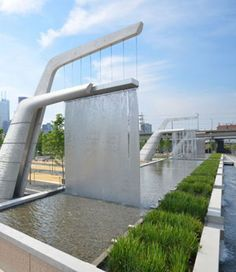 "Does your neighborhood park also treat polluted water? US Cities need to get on board with the ""New Nature"" approach of integrating necessary urban infrastructure into a public park environments.  Toronto's Sherbourne Common is a must see!"