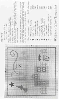 the villa Bent Creek Cross Stitch House, Xmas Cross Stitch, Cross Stitch Boards, Cross Stitching, Free Cross Stitch Charts, Counted Cross Stitch Patterns, Cross Stitch Designs, Cross Stitch Embroidery, Free Charts