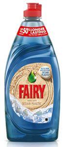 Plástico reciclado para elaborar las botellas de Fairy