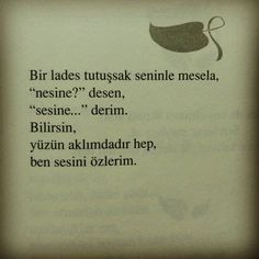 Sadece sesin ellerin ayakların.. Wise Quotes, Book Quotes, Words Quotes, Sayings, German Quotes, English Quotes, Good Sentences, Just Smile, Cool Words