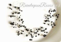 Black Hair Vine Baby's Breath Gypsophila party prom festival Bridal Hairpiece Bridal Hairpiece, Bridal Hair Vine, Bridal Tiara, Vine Wreath, Gypsophila, Wedding Hairstyles For Long Hair, Baby's Breath, Boho Baby, Tiaras And Crowns