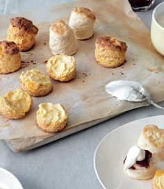 Pumpkin scones recipe by Margaret Fulton - Preheat the oven to Grease a baking tray with butter. Get every recipe from Baking by Margaret Fulton Homemade Scones, Pumpkin Scones, Tray Bakes, Baked Goods, Sweet Recipes, Bakery, Good Food, Fulton, Treats