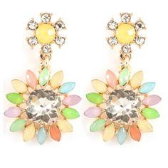 Rainbow Jewel Earrings #madewithstudio