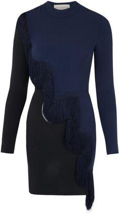 Stella Mccartney Navy and Black Alba Tassel Dress in Blue (navy) - Lyst