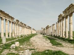 The Great Colonnade at Apamea. Apamea (Greek: Απάμεια, Apameia; Arabic: آفاميا, Afamia), on the right bank of the Orontes River, was a treasure city and stud-depot of the Seleucid kings, and was the capital of Apamene. Previously known as Pharmake, it was fortified and enlarged by Seleucus I Nicator in 300 BC, who so named it after his Bactrian wife, Apama.
