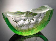 Citron Shoal Boat -- Artist: Steven Weinberg -- No further reference provided. Glass Ceramic, Mosaic Glass, Fused Glass, Stained Glass, Glass Beads, Murano Glass, Steven Weinberg, Kiln Formed Glass, Art Of Glass