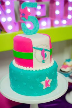 Gymnastics Themed Birthday Party