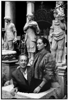 Henri Cartier-Bresson ITALY. Venice. 1952. French writer, André PIEYRE DE MANDIARGUES with his wife Bona who is a painter and sculptor.