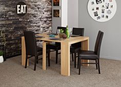 Helena Table with Built In Extension Extendable Dining Table, Dining Table In Kitchen, Dining Furniture, Living Room, Home Decor, Natural, Products, Expandable Dining Table, Decoration Home