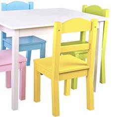 Pidoko Kids Wooden Table and Chairs Set   Includes 4 Chairs and 1 Art Craft Study and Activity Table for Children   Educational Furniture and Picnic Table with Chairs (White & Pastel) Wood 4 Good http://www.wood4goodaccessories.com/product/pidoko-kids-wooden-table-and-chairs-set-includes-4-chairs-and-1-art-craft-study-and-activity-table-for-children-educational-furniture-and-picnic-table-with-chairs-white-pastel/  Price: & FREE Shipping  #craft