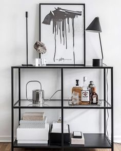 Most up-to-date Photographs Ikea & Vittsjö & # Regal - . - Most up-to-date Photographs Ikea & Vittsjö & # Regal – Decoration Popul - My Living Room, Home And Living, Living Room Decor, Ikea Vittsjo, Decoration Christmas, Home And Deco, Home Decor Accessories, Gothic Accessories, Cheap Home Decor