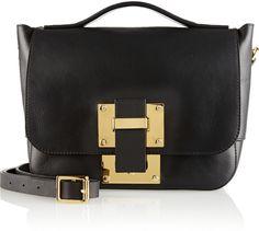 Sophie Hulme Soft Flap mini leather shoulder bag on shopstyle.com.au