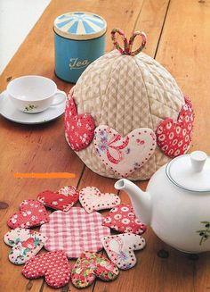 Cobertura para bule de chá e descanso