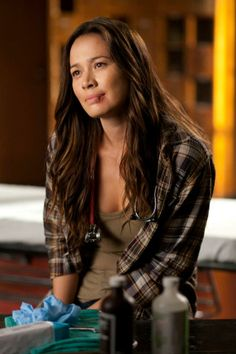 "Moon Bloodgood as Anne Glass from the TV Show ""Falling Skies""."