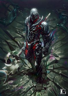 ideas for concept art armor knights Dark Fantasy Art, Fantasy Artwork, Fantasy Kunst, Fantasy Warrior, Armor Concept, Concept Art, Fantasy Character Design, Character Art, Illustration Fantasy