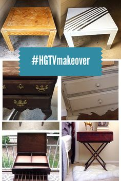 Our Favorite DIY nightstand makeovers from our readers --> http://blog.hgtv.com/design/2015/03/16/diy-nightstand-ideas-from-hgtv-readers/?soc=pinterest
