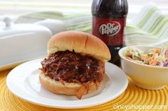 Dr. Pepper Pulled Pork | 21 5-Ingredient Slow Cooker Recipes -- So I don't lose the recipe again...
