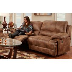 Ordinaire The Caswell Sofa Is A Double Reclining Two Seat Sofa. Wide Seats And Extra  Padding