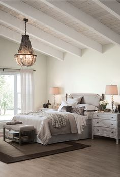 Beautiful Chandelier SW_AlabasterSW700_Bedroom_10.21.15