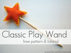 Play wand made with felt & hot glue. Could probably modify to use with jewel-it or school glue to make a touch more kid friendly.