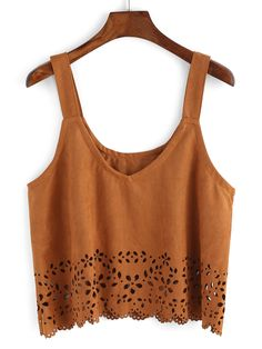 Shop Straps Suede Pierced Cami Top online. SheIn offers Straps Suede Pierced Cami Top & more to fit your fashionable needs.