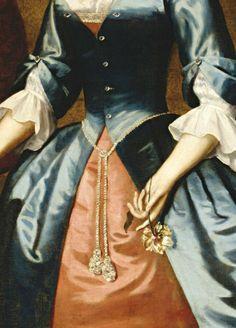 Portrait of Mrs. Samuel McCall, Detail, by Robert Feke, (1746)