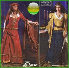 Simplicity 9246 Gothic Medieval Tudor Court Dress Patterns