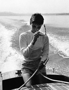 AUDREY BY HER FIANCE MEL FERRER AUGT 1954