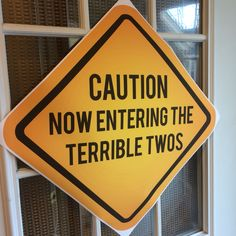 Now Entering The Terrible Twos Sign 2 Year Old Birthday