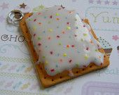 Pop-Tart clay charm