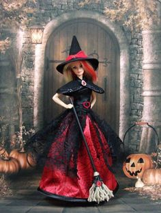Outfit Barbie Halloween 5 dress for Barbie Silkstone by F3788