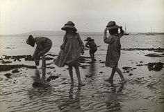 Despite looking for hours, the children could not find Nemo. 23 Vintage Photos Of Australians At The Beach That Show Some Things Never Change Belle Epoque, Vintage Photographs, Vintage Images, Vintage Pictures, Old Pictures, Old Photos, Vintage Illustration, Photo Vintage, Rock Pools