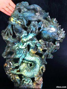 Labradorite Dragon Sculpture