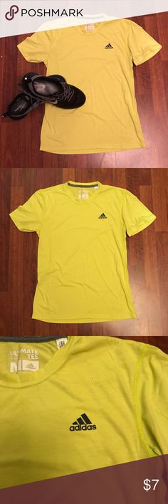 *HOST PICK* ADIDAS tshirt! Neon Adidas tshirt! Great shirt! *Close up pictures are best pictures of color. adidas Shirts Tees - Short Sleeve