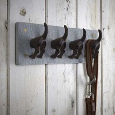 Buy the Dog Tail Coat Hooks from Fallen Fruits today! A part of our Coats range. Hall Coat Rack, Coat Hanger, Coat Hook Shelf, Coat Hooks, Fallen Fruits, Hedgehog House, Door Knobs And Knockers, Storage Hooks, Dog Store