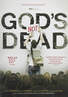 "God's Not Dead (What Do You Believe)  When atheist philosophy professor (Kevin Sorbo) plans to forego ""dusty arguments"" in his class, he insists the new students declare that ""God Is Dead."" Unable to do this, Josh (Shane Harper) is challenged to defend his faith and prove to the class that God is NOT Dead. With everything on the line, Josh's faith is unwavering...and life-changing to those around him."