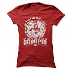 Scorpio T Shirts, Hoodies. Get it here ==► https://www.sunfrog.com/LifeStyle/Scorpio-Red-70058117-Ladies.html?57074 $19