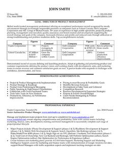 Resume Templates For Management Positions For An Executive Seeking A Position On A Board Of A Corporation Or .