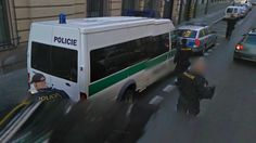 Police Operation in Prague on Streetview