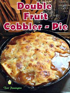 Double Fruit Cobbler Pie  on MyRecipeMagic.com